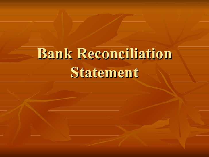 Outsourced Bank Reconciliation Statement services